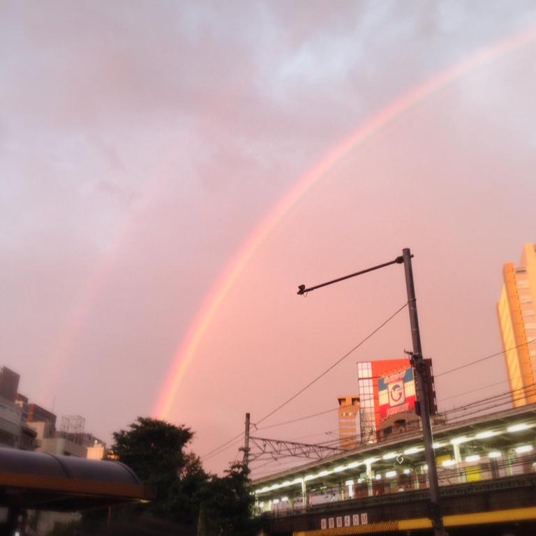 虹をみました